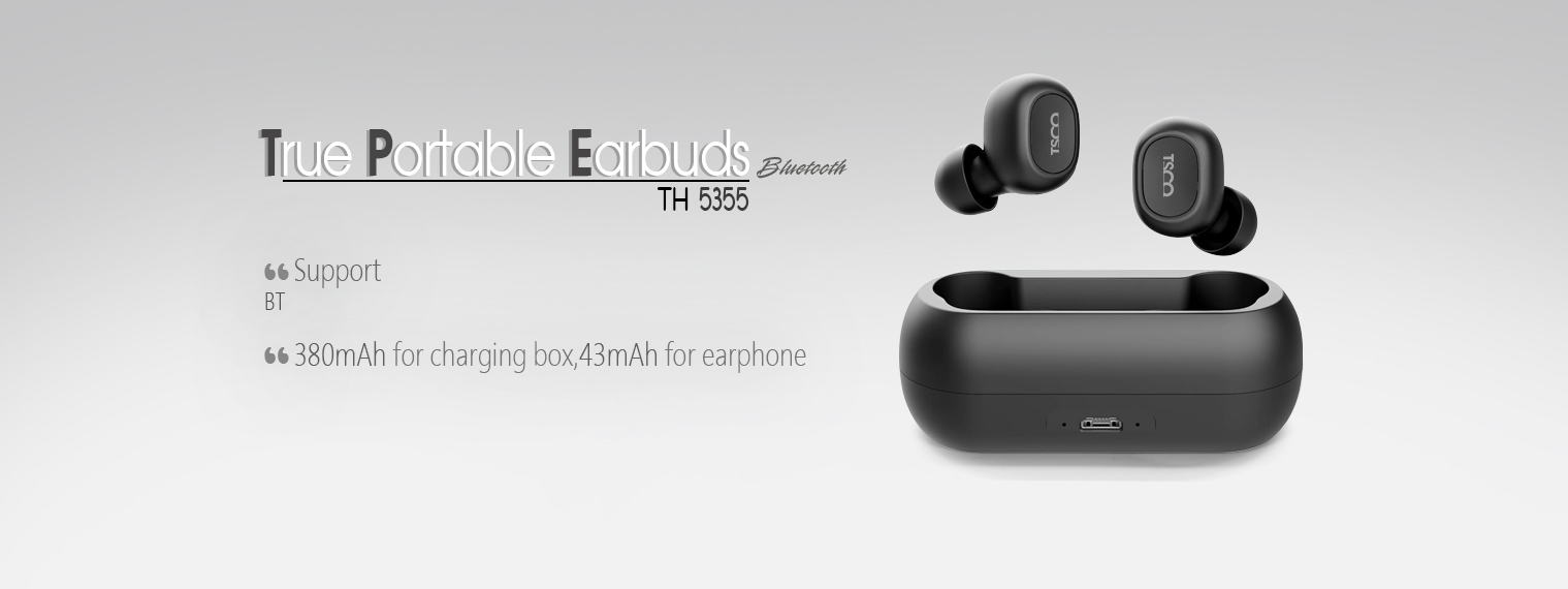TRUE PORTABLE EARBUDS TH-5355