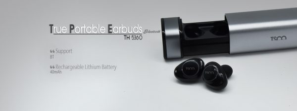 TRUE PORTABLE EARBUDS TH-5360