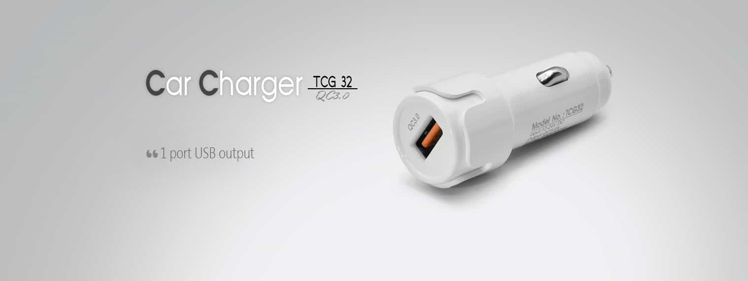 CAR CHARGER TCG 32 QC